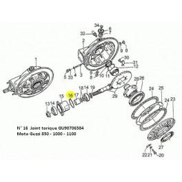 Joint Torique de Nez de Pont 850 - 1000 - 1100 - 750Breva -750Nevada - V7 - V9