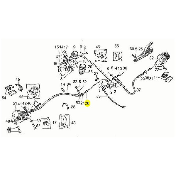 durite frein rigide moto guzzi gu17658750 en vente chez moto bel 39. Black Bedroom Furniture Sets. Home Design Ideas