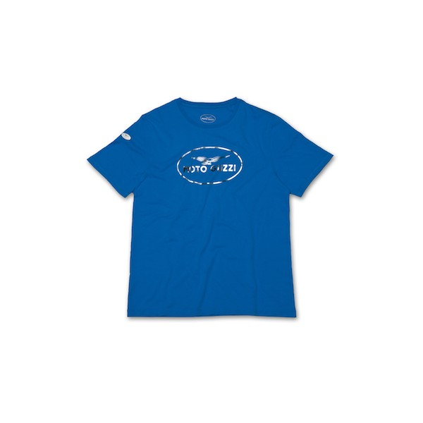 Tee shirt original homme bleu moto guzzi 605790m0 a en vente chez moto bel 39 - Imprimer photo sur tee shirt ...