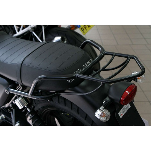 porte paquet v7 noir moto guzzi portu017n en vente chez moto bel 39. Black Bedroom Furniture Sets. Home Design Ideas