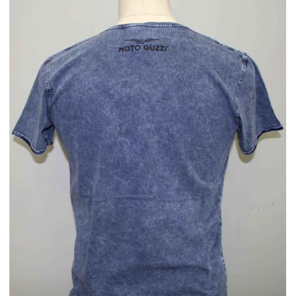 t shirt homme custom puzzle bleu moto guzzi 606035m0 b en vente chez moto bel 39. Black Bedroom Furniture Sets. Home Design Ideas