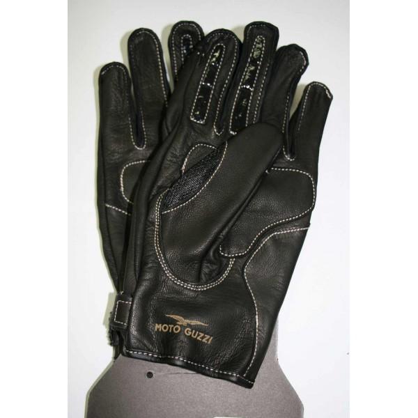 gants moto guzzi stripes marron 606081m0 s en vente chez moto bel 39. Black Bedroom Furniture Sets. Home Design Ideas