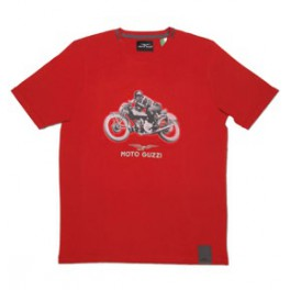T-SHIRT GARAGE ROUGE HOMME