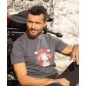 Tee-shirt Moto Guzzi V7 Logo Gris 606743M