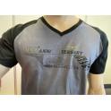 Tee-shirt Centenaire Moto Guzzi Gris et Noir