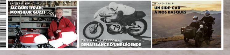 Café Racer n° 110 Bandeau en 1ère page de couverture