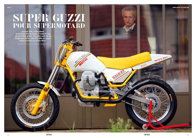 Guzzi V75 Supermotard Café Racer off road nov - déc 2020