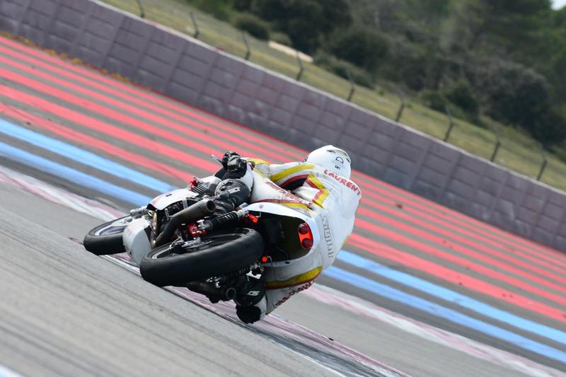Laurent sur la Moto Bel' au castellet 2015