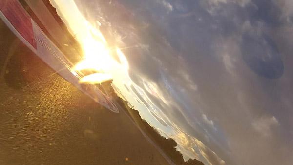 Soleil couchant au Castellet