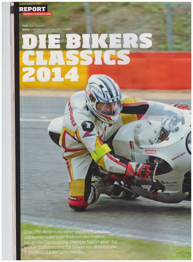 Article Fast Bike sur les Bikers Classic Spa 2014