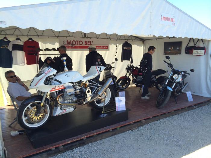 Stand Moto Bel' au café racer festival 2014 à Montlhéry