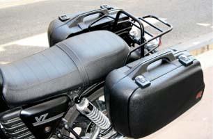 Valises rigides noires Hepco 30 l avec Porte-paquet noir